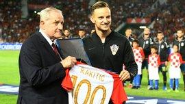 Ракітіч провів 100-й матч за збірну Хорватії
