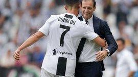 Аллегри: Дуглас Коста не должен позволять себе подобное, а Роналду повезло