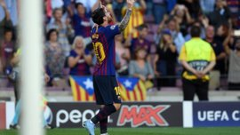 Барселона в меньшинстве разгромила ПСВ благодаря хет-трика Месси