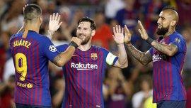 Космическая комбинация Барселоны – 21 передача, после которых Месси забил ПСВ