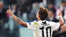 Дибала стал четвертым игроком Ювентуса, который сделал хет-трик в Лиге чемпионов