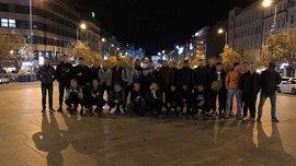 Яблонец – Динамо: Фанаты киевлян устроили массовую драку в Чехии