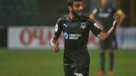 Окриашвили отличился невероятным ударом через себя в ворота Севильи – гол-красавец из Лиги Европы
