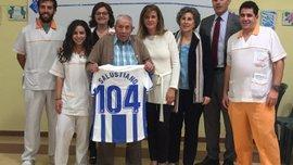 Леганес Луніна підтримує 104-річний фанат – клуб тепло привітав ветерана з Днем народження