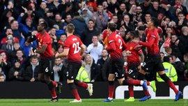 Манчестер Юнайтед минимально обыграл Эвертон: 10-й тур АПЛ, матчи воскресенья