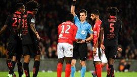 Лига 1: Ницца в матче с двумя удалениями вырвала победу у Нима, Дебюши голом помог Сент-Этьену обыграть Реймс