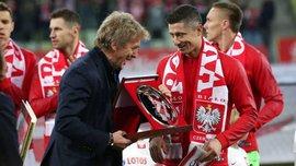 Лєвандовскі отримав нагороду за 100 матчів у збірній Польщі