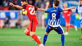 Алавес сыграл в результативную ничью с Севильей: 14 тур Ла Лиги, матчи воскресенья