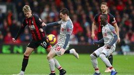 Борнмут – Ливерпуль: игрок хозяев Кук забил курьезный автогол ударом пяткой
