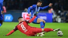 Герта минимально одолела Айнтрахт: 14-й тур Бундеслиги, матчи субботы