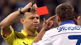 Шахтер – Лион: матч будет судить арбитр, который показал Шевченко единственную красную карточку в его карьере