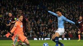 Сане стал лишь 5-м немцем в Лиге чемпионов, который забил минимум 2 гола в одном матче