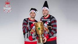Суперник Шахтаря Айнтрахт весело привітав вболівальників з Різдвом