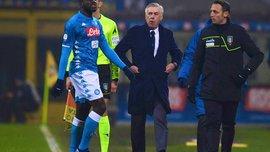 """""""Кулибали был раздражен из-за расизма"""", – Анчелотти объяснил фатальное удаление сенегальца в матче с Интером"""