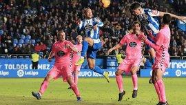 Луго з Кравцем вистояв вдев'ятьох проти Депортіво, Малага сенсаційно осоромилась перед аутсайдером Сегунди