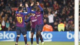 Барселона – Леванте: Дембеле оформив неймовірно курйозний дубль за 2 хвилини