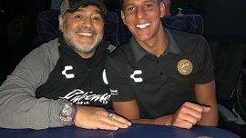 Воротар Дорадоса, який тренує Марадона, зробив татуювання з обличчям легендарного аргентинця