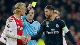 УЕФА начал расследование из-за слов Рамоса о намеренно полученной желтой карточке в матче с Аяксом