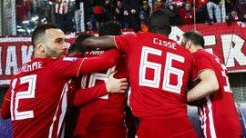 Олимпиакос разгромил АЕК Чигринского – Фортунис оформил дубль перед ответным матчем с Динамо