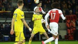 Ліга Європи: Арсенал розтрощив БАТЕ, Динамо Загреб, Зальцбург та Зеніт пройшли далі, програвши перший матч