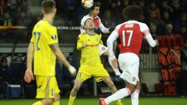 Лига Европы: Арсенал разгромил БАТЭ, Динамо Загреб, Зальцбург и Зенит прошли дальше, проиграв первый матч