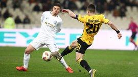 АЕК Чигринського розгромив Атромітос у чвертьфіналі Кубка Греції