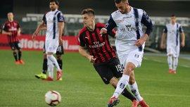 Кьево – Милан – 1:2 – видео голов и обзор матча, в котором Пйонтек догнал Роналду в гонке бомбардиров