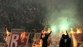 Панатінаїкос – Олімпіакос: через бійки, сльозогінний газ та димові шашки матч не було дограно – відео божевілля фанатів