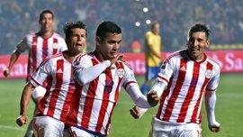 Дерлис Гонсалес забил гол за сборную Парагвая через минуту после выхода на замену