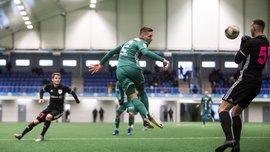Украинцы Будник и Жураховский отличились голами за Левадию – их команда победила со счетом 8:0