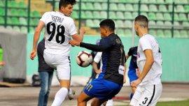 Эффектный гол Леднева со штрафного в видеообзоре матча Львов– Заря