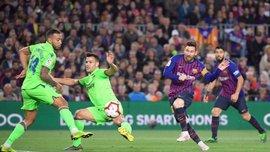 Минимальная чемпионская победа Барселоны в видеообзоре матча с Леванте