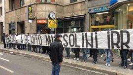 """Мілан – Лаціо: фанати """"орлів"""" вивісили банер """"Слава Беніто Муссоліні"""""""