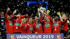 Драматическое поражение ПСЖ в финале Кубка Франции в видеообзоре матча с Ренном