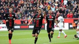Байер дома уничтожил Айнтрахт, забив шесть голов за полчаса: 32-й тур Бундеслиги, матчи воскресенья