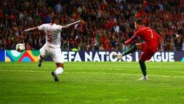 Красивий хет-трик Роналду у відеоогляді матчу Португалія – Швейцарія – 3:1