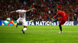 Красивый хет-трик Роналду в видеообзоре матча Португалия – Швейцария – 3:1