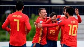 Евро-2020: Испания разгромила Фарерские острова, Польша переиграла Северную Македонию