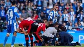 Игрок Депортиво, который получил ужасную травму, выписан из больницы – ему наложили 70 швов