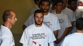 """""""Ми з Грузії і наша країна окупована Росією"""", – команда екс-карпатівця вийшла на матч у спеціальних футболках"""