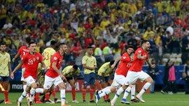 Колумбия – Чили – 0:0 (4:5 пен.) – видео голов и обзор матча