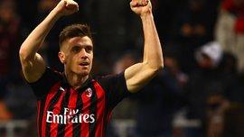 Пйонтек получил в Милане статусный номер – под ним играл бывший игрок Шахтера