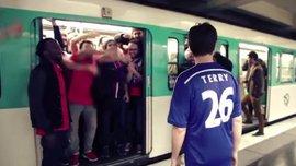 Буйного фаната Челсі викинули з вагону метро