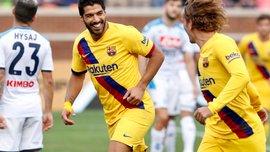 Барселона уничтожила Наполи в товарищеском матче – дубль Суареса и первый гол Гризманна