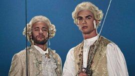 Средневековые джедаи: Роналду и Неймар снялись в видеоролике, где в париках бились световыми мечами