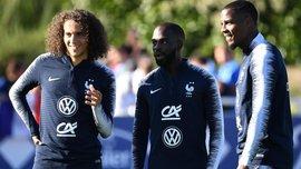 Гендузи и Иконе спели на посвящении в сборной Франции