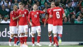 Сборная Дании добыла крупнейшую гостевую победу более чем за 100 лет