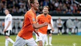 Френкі де Йонг відзначився своїм першим голом за збірну Нідерландів