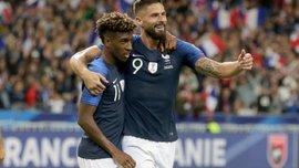 Коман став першим французом з часів Анрі, який відзначився дублем у матчі відбору на Євро