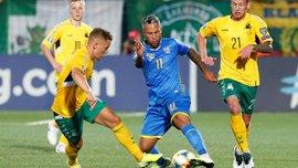 Сборная Украины одержала 40-ю победу в гостях